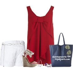 """""""What To Wear: Fourth of July BBQ"""" by shannonmarie-94 on Polyvore"""