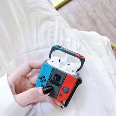 For AirPods Case Silicone Cute Game Earphone Case For Airpods 2 Headphone Case for Apple Air pods Cover Earpods Carabiner Cute Cases, Cute Phone Cases, Iphone Phone Cases, Awesome Iphone Cases, Nintendo Switch Accessories, Iphone Accessories, Electronics Accessories, Accessories Store, Kitchen Accessories