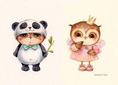 Трогательные совы от иллюстратора Инги Пальцер. Amazing owls from Inga Paltser. Watercolors