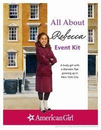 American Girl Rebecca activities