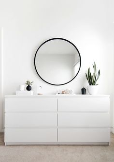 IKEA MALM dresser in white