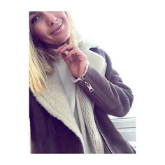 Meet Celine, she is cool, cozy and warm! @holzweiler_ #celineshearlingjacket