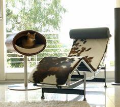 Quel design !Un lit pour chat ou un arbre à chat au design intemporel Le couchage en hauteur permet à votre chat de se reposer et de dormir en toute tranquilité, un vrai havre de paix Le RONDO STAND est personnalisable à volonté Nous aimons :- le design- le pied inox- la qualité des matériaux- le couchage en hauteur Enregistrer