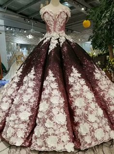 Burgundy Ball Gown Sequins Off The Shoulder Appliques Wedding Dress dresses ball gown dresses boho dresses lace dresses princes dresses simple dresses vintage Shrug For Dresses, Ball Gown Dresses, The Dress, Bridal Dresses, Prom Dresses, Red Ball Gowns, Long Dresses, Formal Dresses, Fantasy Gowns