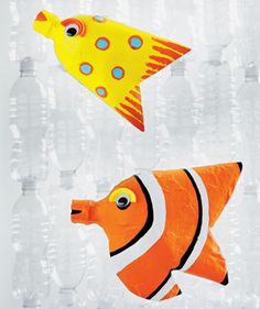 Under the Sea- Plastic water bottle fish