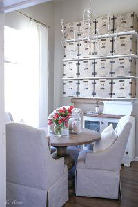 Office/Studio Shelves a gorgeous and functional storage solution in the industrial farmhouse style.