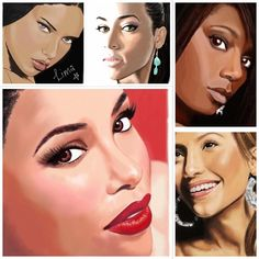 Another mishmash of ancient creations #digitalart #wacom #aaliyah #gabriellelima #jlo #memyselfandi Desperately need a new laptop so I can get back onto progressing my digital drawing skills