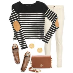 Ootd by pinkprep37 on Polyvore featuring James Jeans, Tory Burch and BaubleBar
