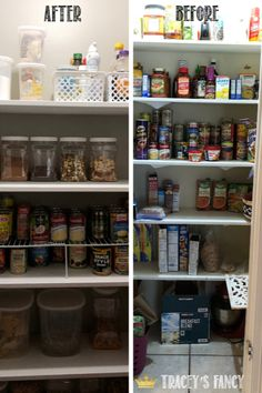 We finally tackled the one space in our home that we'd been ignoring for years……the pantry! It was time for a pantry makeover. – By Tracey's Fancy Pantry Pantry Storage, Pantry Organization, Organized Pantry, Diamond Furniture, Whimsical Painted Furniture, Pantry Makeover, Getting Organized, Fancy, Space