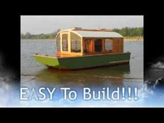Cheap Houseboat you can build, DIANNE'S ROSE - http://tinyhousetalk.com/micro-houseboat-you-can-build/