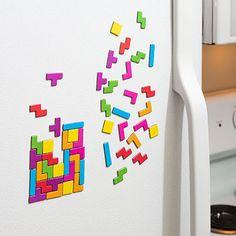 Tetris fridge magnet set
