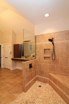 Wheelchair Accessible Homes Design Ideas - roll in shower