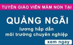 Tuyển giáo viên mầm non tại Quảng Ngãi