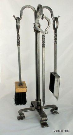 Blacksmith Workshop, Metal Workshop, Blacksmith Forge, Blacksmith Projects, Fireplace Tool Set, Fireplace Ideas, Metal Projects, Welding Projects, Iron Tools
