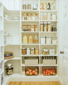 53 Elegant Closet Design Ideas For Your Home. Unique closet design ideas will definitely help you utilize your closet space appropriately. An ideal closet design is probably the only avenue . Kitchen Pantry Design, Kitchen Organization Pantry, Pantry Storage, Kitchen Storage, New Kitchen, Kitchen Decor, Organization Ideas, Pantry Ideas, Food Storage
