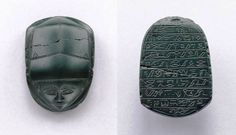 Extremely rare early Egyptian human-headed scarab for Hatshepsut, Second Intermediate Period, 13th Dynasty, circa 1786-1710 BC