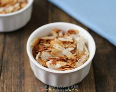 cinnamon coconut chips / http://lowcarboneday.com/2013/06/coconut-chips-and-why-you-should-add-coconut-to-your-diet.html
