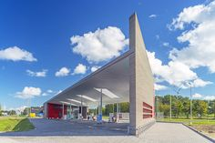 sustainable avia marees gas station by knevel architecten