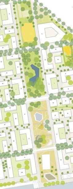 """Gewinner: Planausschnitt """"Grüne Mitte"""", © zanderrotharchitekten gmbh, herrburg Landschaftsarchitekten"""