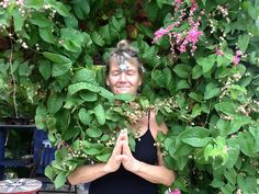 Deb joins her garden fairies in meditation. Taking care of nature in all its beauty.
