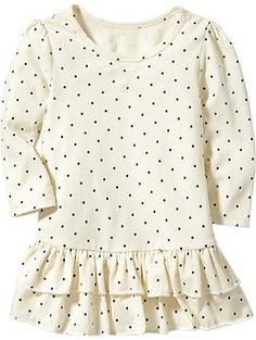 Patterned Ruffle-Hem Tee Dresses for Baby   Old Navy 5t