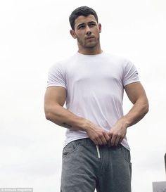 Hot stuff: Nick Jonas talked about how important a healthy sex life is when he spoke to Attitude magazine for their December issue