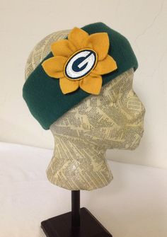 Green Bay Packers Fleece Head Band - Womens by MelloGalleria on Etsy https://www.etsy.com/listing/107431931/green-bay-packers-fleece-head-band