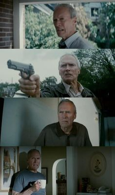 Clint Eastwood) By Casey Gran Torino Film, Grand Torino, Ford Torino, Clint And Scott Eastwood, Francesca Eastwood, Savage Worlds, Movie Shots, Film School, Hollywood