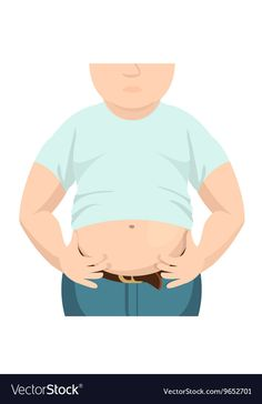 Abdomen fat overweight man with a big belly vector image on VectorStock Tech Background, Background Design Vector, Retro Background, Geometric Background, Save The Date Posters, Question Mark Icon, Badge Icon, Globe Icon, Cloud Vector
