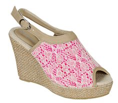 Reneeze-ECHO-03-Womens-Organic-Wedge-Platform-Sandals-Laced-FUSCHIA-Size-5-5