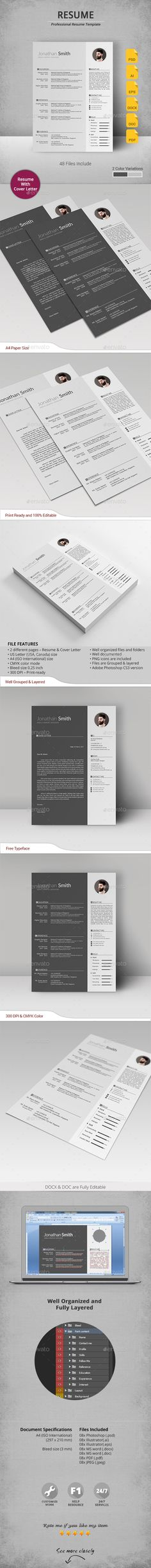 #Resume - Resumes Stationery Download here: https://graphicriver.net/item/resume/19345585?ref=alena994