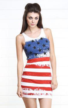 American Flag Tank Dress