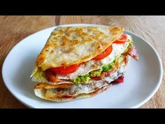 TikTok Tortilla Wrap 3 Ways – Breakfast, Lunch & Dessert - YouTube Lunch Recipes, Mexican Food Recipes, Healthy Recipes, Breakfast Wraps, Breakfast Recipes, Feta, Slow Cooker Recipes, Cooking Recipes, Best Keto Bread