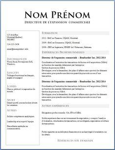 Travailler au Québec : rédiger votre CV Exemples de CV