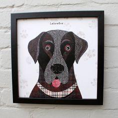 'labrador' dog print by simon hart | notonthehighstreet.com