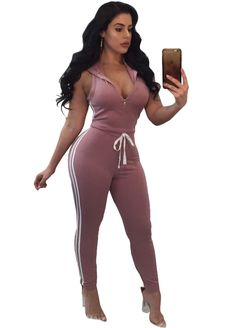 Zip Me Up Hooded Top Fitted Jumpsuit_Jumpsuit & Rompers_Women Clothes_Sexy Lingeire | Cheap Plus Size Lingerie At Wholesale Price | Feelovely.com