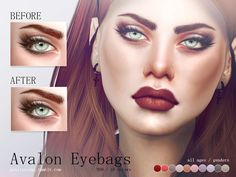 Realistic eyebags in 10 colors. All ages and genders. Found in TSR Category 'Sims 4 Female Skin Details'