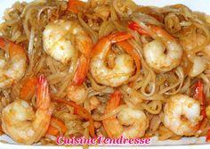 Nouilles de riz sautées aux crevettes