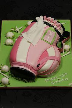 Ladies Golf Bag Cake by Kingfisher Cakes #golf #lorisgolfshoppe
