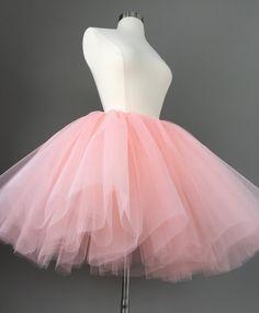 Tulle skirt adult tutu blush tutu peach by Morningstardesignsmi Jupe Tutu Rose, Tutu En Tulle, Blush Tulle Skirt, Pink Tutu Skirt, Diy Tutu, Peach Skirt, Tulle Poms, Tutu Skirts, Gray Skirt