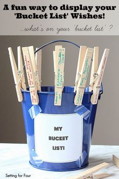 Here's a fun activity to keep the kids busy over March Break and summer holidays! Display your family's bucket list: Have the kid's select the bucket list wishes they'd like to achieve! It's a great way to teach the kids about having goals and dreams! Fun Bucket, Summer Bucket, Bucket Lists, Summer Fun, Fun Activities For Toddlers, Indoor Activities, Summer Activities, Family Activities, Diy And Crafts