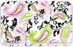 """Paisley Cuddle Print - Hot Pink/Lime 60"""" Minky Yardage - Shannon Fabrics - Shannon Fabrics"""