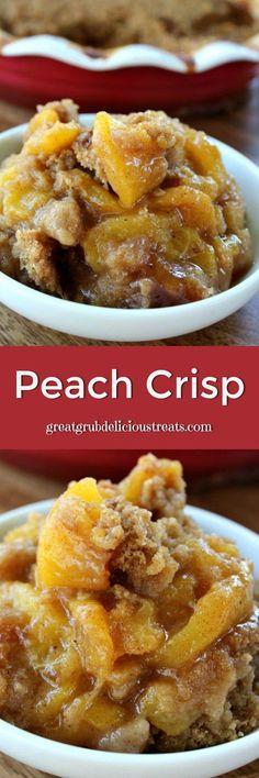 Peach Crisp - This is a healthier peach crisp that tastes amazing!