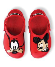 Take a look at this Red Mickey Mouse & Goofy Clog by Crocs Kids on #zulily today!