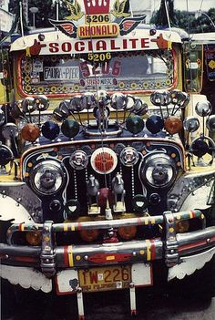 Jeepney in Manila, Philippines. Nicely decorated - Pride of the owner and the guests riding with it...Only in the Philippines.
