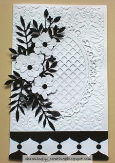 Black & White Card by Charminglycreative - Cards and Paper Crafts at Splitcoaststampers