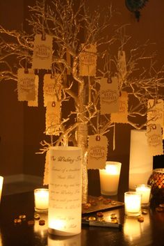 love this! I want to use it as a wishing tree - have family members complete them prior to wedding perhaps..?!