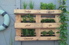 Pallet Herb Rack, Pallet kruiden rek. Vertical Gardening