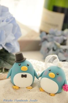 Casual Collection LOVE ANGELS penguins Wedding Cake by kikuike, $80.00