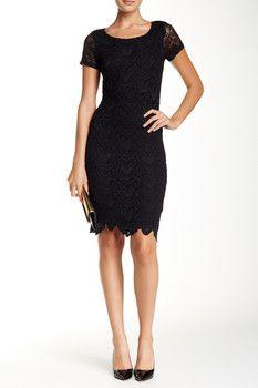 Velvet By Graham & Spencer Short Sleeve Lace Dress  Sponsored by Nordstrom Rack.